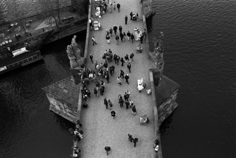 Charles Bridge, Prague, Czech Republic, April 2000