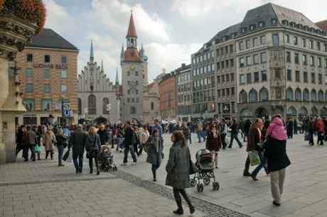 Marienplatz, Munich, Germany, October 2009