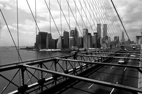 Manhattan from Brooklyn Bridge, New York, America, April 1995