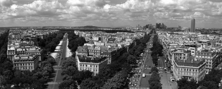 From the Arc de Triomphe, Paris, France, August 2004