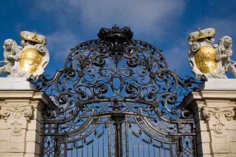 Gate, Upper Belvedere, Vienna, Austria, December 2008