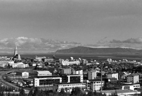 Reykjavik from Perlan Hill, Reykjavik, Iceland, April 2006