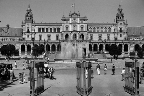 Plaza de España in Maria Luisa Park, Seville, Spain, August 2002
