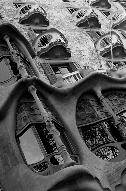 Casa Batlló by Gaudi, Barcelona, Spain, August 2002