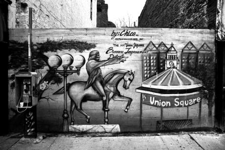 Union Square Graffiti, Manhattan, New York, America, April 1995