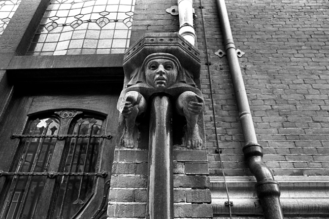 Drain pipe, Amsterdam, Netherlands, April 1999