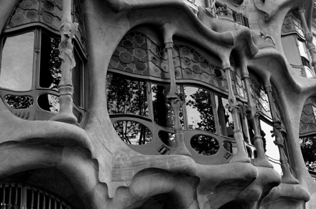 Casa Batlló by Gaudi, Barcelona, Spain, August 2002