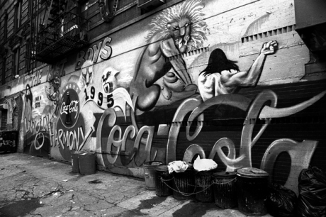 Graffiti, East 11th St., Manhattan, New York, America, April 1995