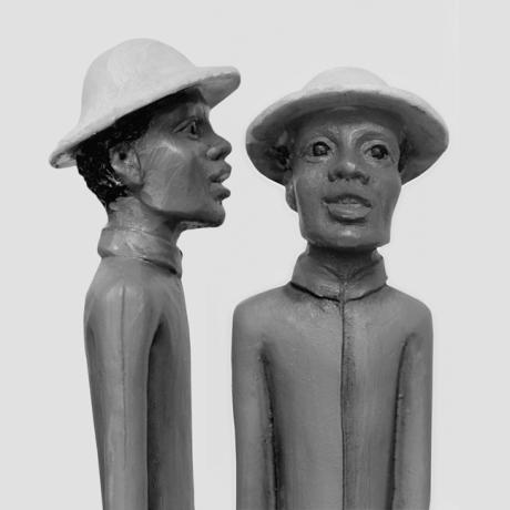 African Statues, Synge Street, Dublin, Ireland, August 2005