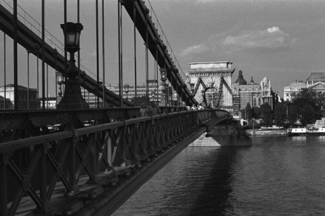 Széchenyi Chain Bridge, Budapest, Hungary, June 2001