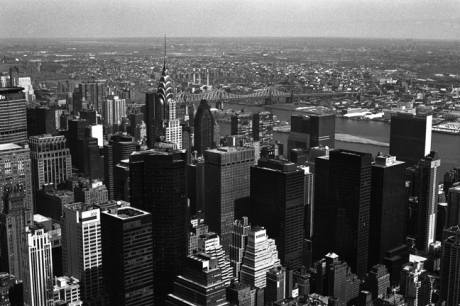 Manhattan from Empire State, Manhattan, New York, America, April 1995