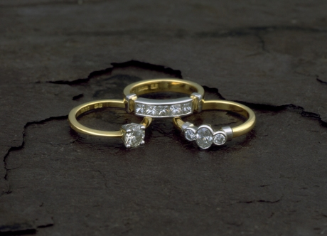 Gold, Platinum and Diamond Rings by Steven Bourke, 2002