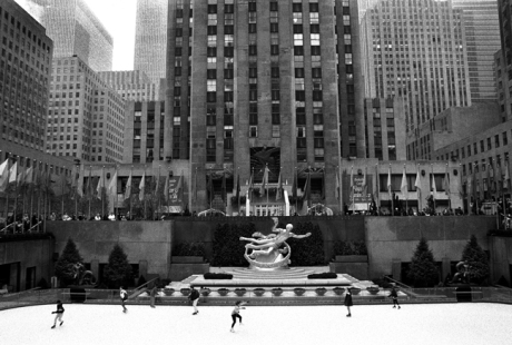 The Rink, Rockefeller Centre, Manhattan, New York, America, April 1995