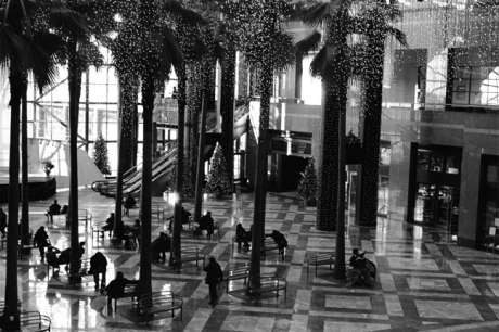 Winter Garden, WTC, Manhattan, New York, America, January 2001