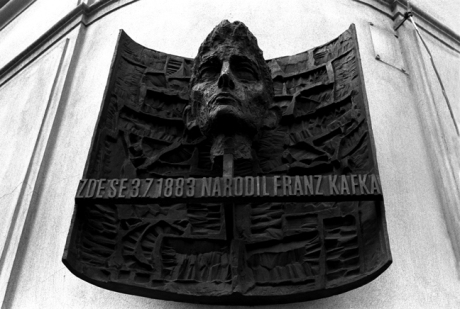 Kafka, Maiselova and Kaprova, Prague, Czech Republic, April 2000