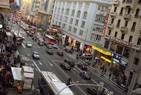 The Gran Via, Madrid, Spain, January 2005