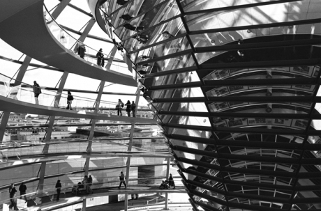 Reichstag Dome by Norman Foster, Berlin, Germany, November 2006
