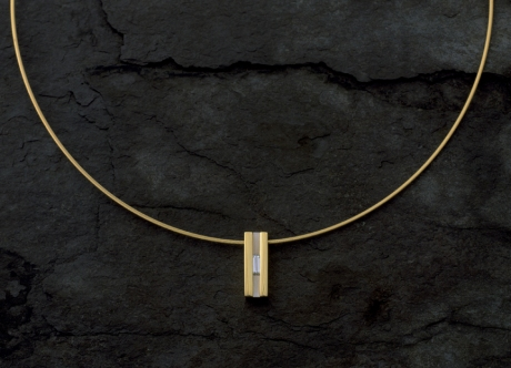 Gold, Platinum and Diamond Pendant by Steven Bourke, 2002