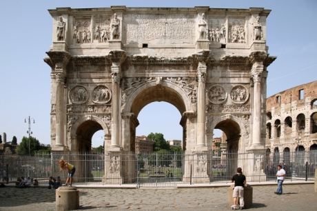 The Arch of Constantine, Rome, Italy, May 2009