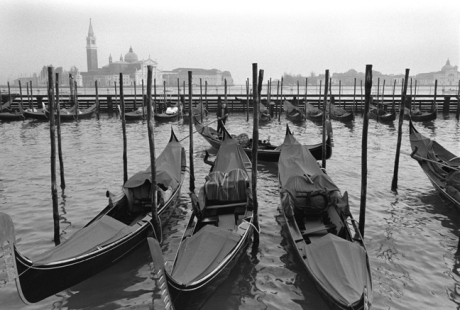 Gondola Dock, Canale della Guidecca, Venice, Italy, November 2005