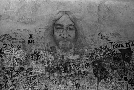 Lennon Wall, Mala Strana, Prague, Czech Republic, April 2000