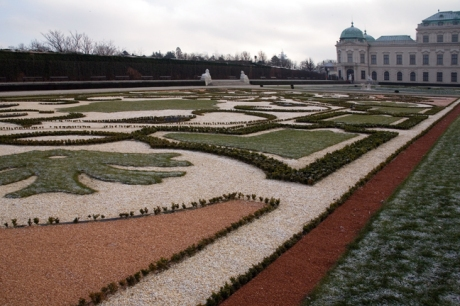Palace Gardens at Belvedere, Vienna, Austria, December 2008