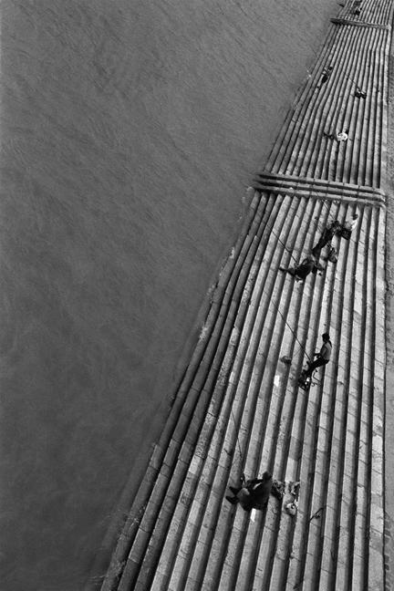 Fishing on the Danube, Budapest, Hungary, June 2001