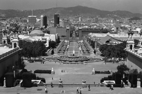 Plaça d'Espanya, Barcelona, Spain, August 2002