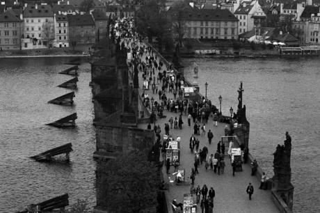 Charles Bridge, Prague, Czech Republic, April 2000