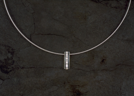 Platinum and Diamond Pendant by Steven Bourke, 2002