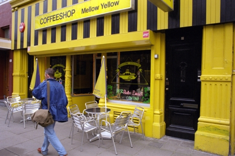 Mellow Yellow, Vijzelgracht, Amsterdam, Netherlands, April 1999