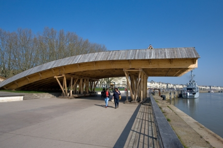 Tadashi Kawamata's Wooden Bridge, Bordeaux, France, April 2010