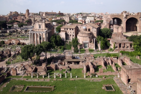 The Forum From Palatine Hill, Rome, Italy, May 2009