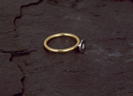 Gold, Platinum and Diamond Ring by Steven Bourke, 2003