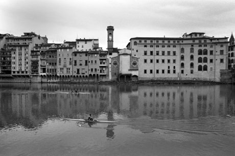 Boating on The Arno, Florence, Italy, February 2007