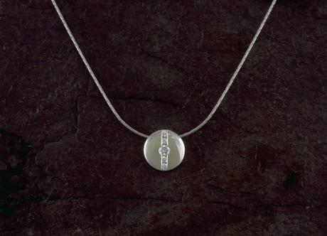 Platinum and Diamond Pendant by Steven Bourke, 2003