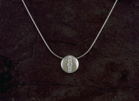 Platinum and Diamond Pendant by Steven Bourke, 2003