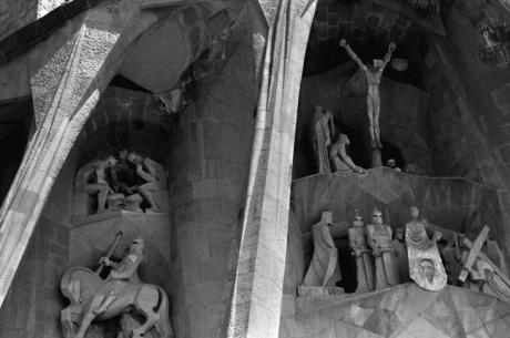 Passion Facade, Sagrada Familia, Barcelona, Spain, August 2002