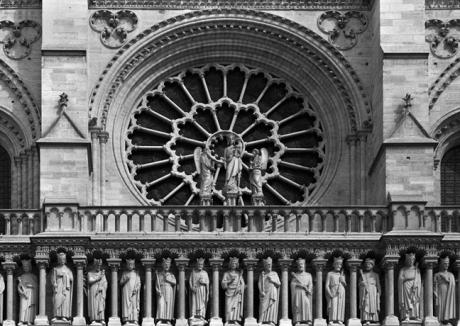 Rose Window, Notre-Dame, Paris, France, August 2004