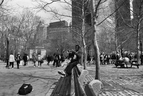 Battery Park, Manhattan, New York, America, April 1995