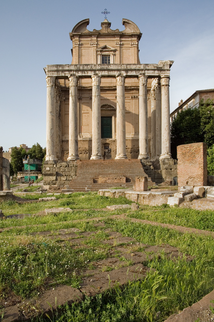 The Temple of Antoninus & Faustina, Rome, Italy, May 2009