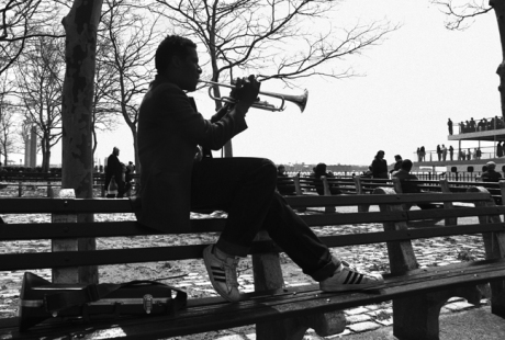 Battery Park, Manhattan, New York, America, April 1995