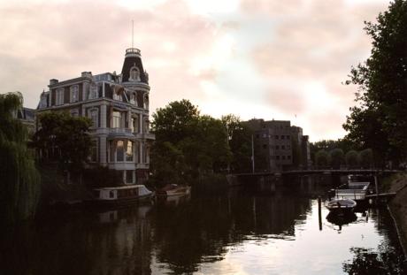 Singelgracht Canal, Dusk, Amsterdam, Netherlands, September 2003