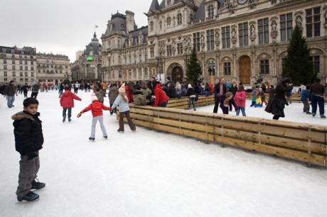 Hotel de Ville, Paris, France, December 2009