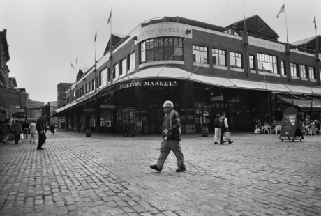 Fulton market,South Street Seaport, New York, America, April 1995