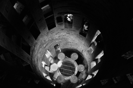 Stairwell, Sagrada Familia, Barcelona, Spain, August 2002