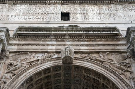 The Arch of Septimius Severus, Rome, Italy, May 2009