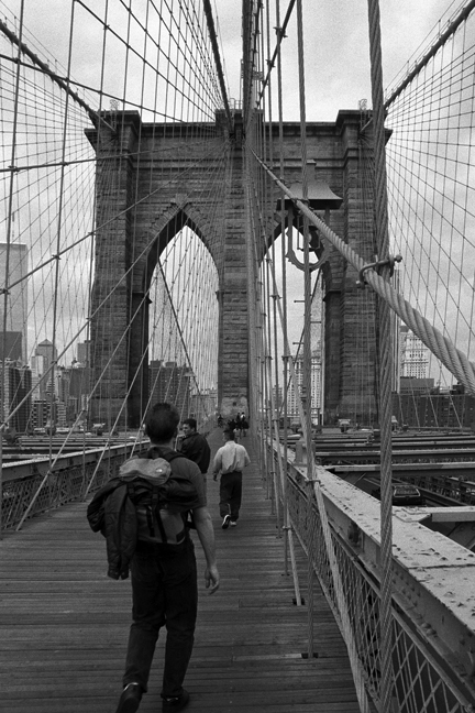 The Brooklyn Bridge, New York, America, April 1995