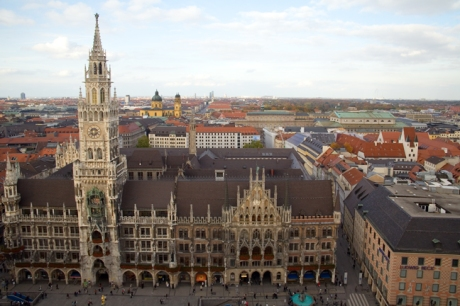 Neues Rathaus, Marienplatz, Munich, Germany, October 2009