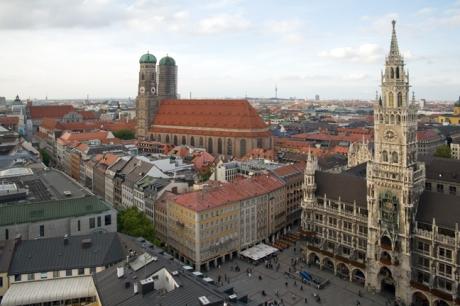 Munich from Peterskirche, Munich, Germany, October 2009